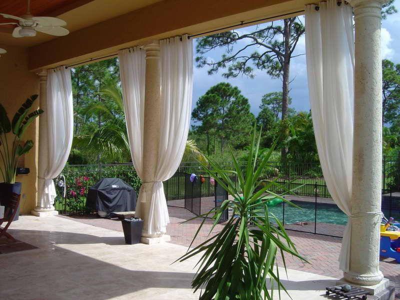 Уличные шторы для беседок, террас и веранд